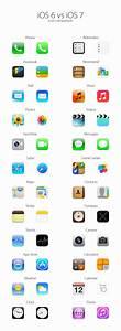 Icon comparison: iOS 6 vs iOS 7