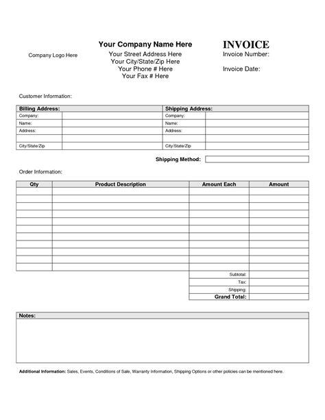 invoice template billing invoice template free invoice exle