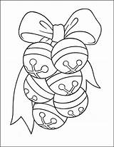 Bells Jingle Coloring Pages Christmas sketch template