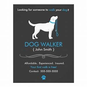 dog walker walking business flyer template business With dog walking flyer template free