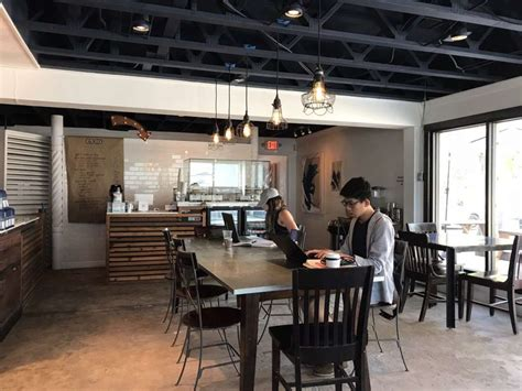 Retrospect coffee bar serves amazing coffee from local roasters and teas from local blenders, as well as a small menu of delicious sweet and savory crepes. Houston's best places to grab some coffee and relax