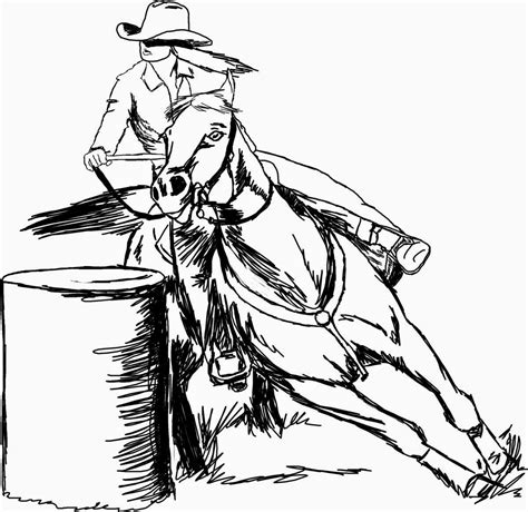 The Gallery For Barrel Racer Black And White