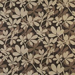 beige on black large abstract leaf or foliage pattern