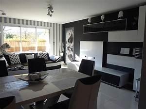 Deco Moderne Salon : salon noir et blanc moderne ~ Teatrodelosmanantiales.com Idées de Décoration