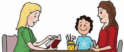 Teacher Clipart Parent Student Conference Meeting Clipground