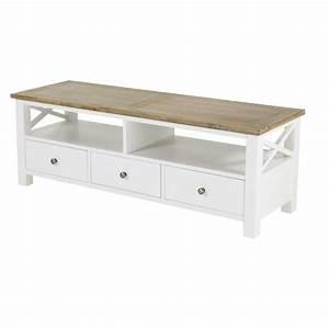 Petit Meuble Tele : meuble en bois de paulownia ~ Teatrodelosmanantiales.com Idées de Décoration