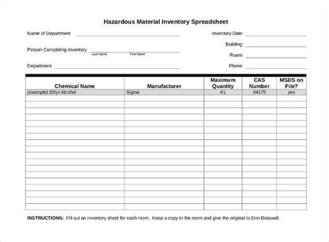 inventory spreadsheet template   word excel