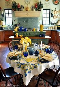 25 best ideas about blue yellow kitchens on pinterest for Kitchen colors with white cabinets with polka dot wall art