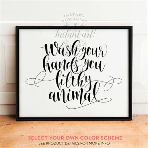leopard bathroom wall decor wash your sign printable bathroom prints