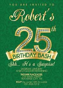 Cocktail Party Invitations Templates Free Silver Age 25th Birthday Invitations Bagvania