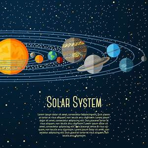 Cartoon solar system design vector material_Download free ...