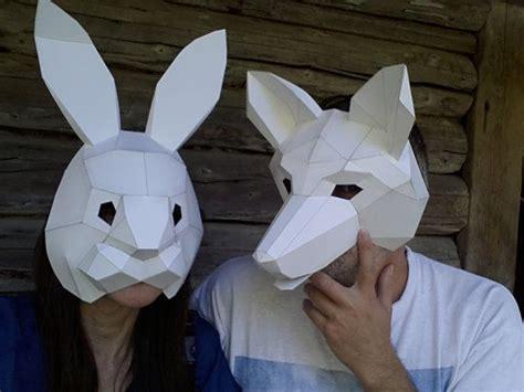 diy halloween mask    rabbit mask