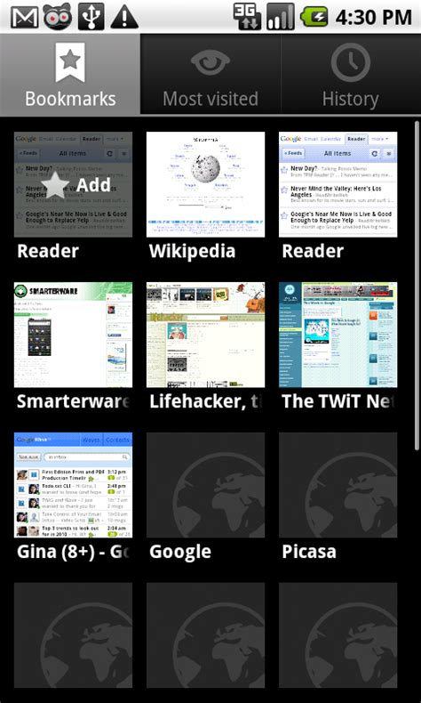 bookmarks android android 2 1 s best features in screenshots smarterware