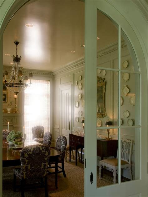 arched pocket door  french country dining room hgtv