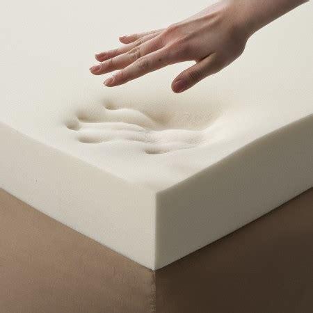 memory foam enhance 4 quot memory foam topper white target