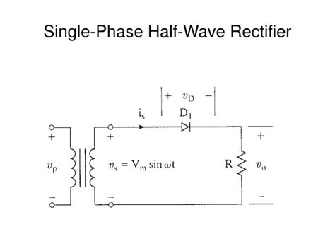 single phase  wave rectifier powerpoint
