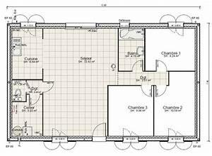 cuisine plan de maison plain pied chambres gratuit plans With plan de maison plain pied gratuit