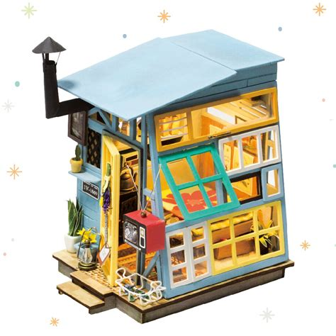 Robotime Diy Dollhouse Kits With Accessories Miniature