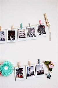 Fotos Aufhängen Ideen : fotos an garn festklemmen und die wand dekorieren ideen ~ Lizthompson.info Haus und Dekorationen