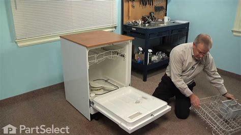 dishwasher repair replacing  door gasket ge part wdx youtube
