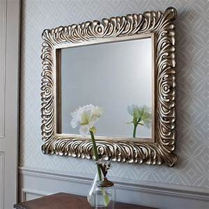Decorative bedroom mirrors in example pics