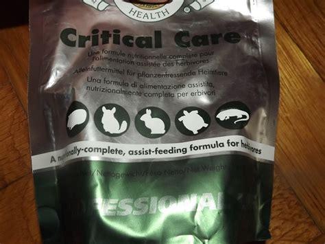 critical care alimentazione forzata critical care