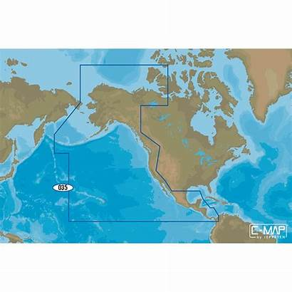 Map Pacific Coast Na America Chart Central