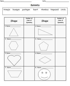 differentiated symmetry worksheets grades 1 2 by miss s class