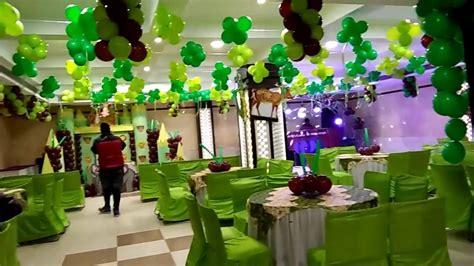 jungle theme birthday party balloon decoration