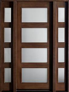Entry Door in-Stock - Single with 2 Sidelites - Solid Wood