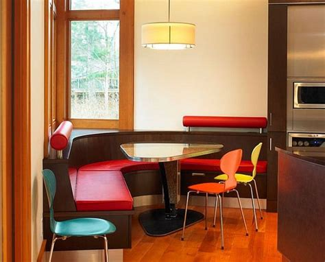 shaped red dining table bench kitchen table kitchen