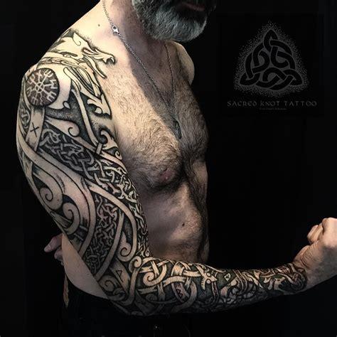 daniels viking wolf prow sleeve  piece  inspired