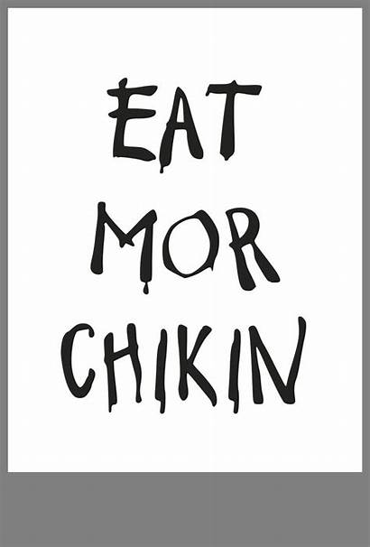 Eat Mor Chikin Sign Printable Costume Coloring