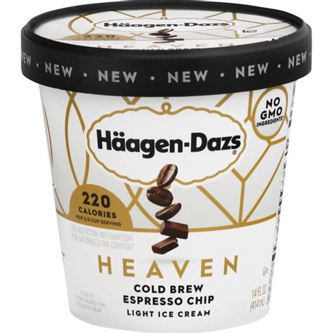 Which tells you most of what you need to know. Haagen Dazs Ice Cream, Light, Heaven, Cold Brew, Espresso Chip | Ice Cream | D'Agostino