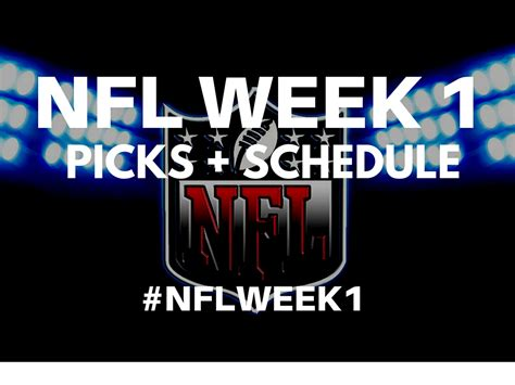 nfl week  schedule  picks