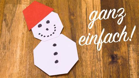 Schneemann Falten Mit Kindern, Basteln Mit Papier Für Weihnachten