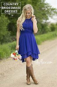 beautiful country bridesmaid dresses with cowboy boots for With country dresses for wedding guest