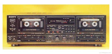 sony tc wr double cassette deck manual hifi engine