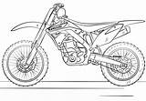 Coloring Motorcycle Bike Bikes Motocross Drawing sketch template