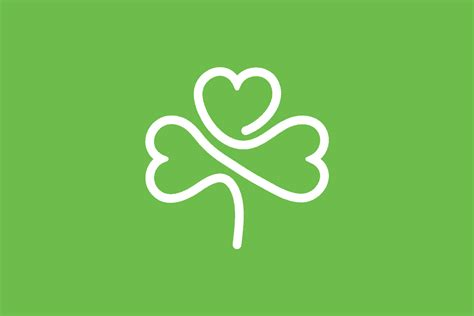 souvenir modern shamrock logo design for sale
