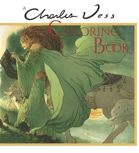 illustration science fiction fantasy artists  charles vess coloring book signed