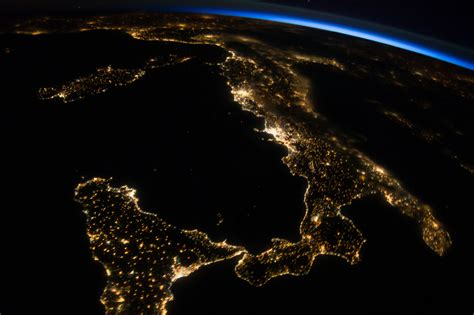 station view  italy  sicily nasa
