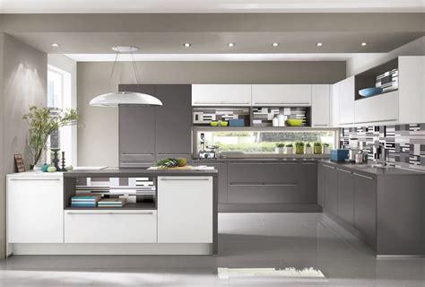 de cuisine modeles de cuisine cuisine fly faade taupe brillant pour