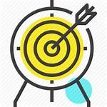 Icon Objective Arrow Goal Success Achievement Marketing