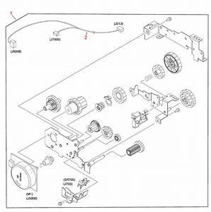 Hp Color Laserjet 3800 Printer Fuser Drive Assembly Diagram
