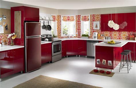 electrodomesticos  una cocina roja imagenes  fotos