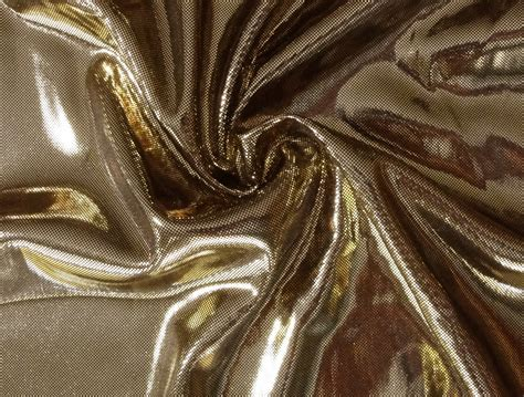 gold metallic lame stretch spandex knit fabric by
