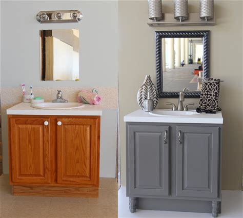 painted bathroom cabinets before and after trendsetter bath before and after with accessories