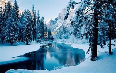 Winter Scenes Backgrounds Desktop Snow Wallpapers River