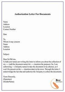 Authorization Letter To Process Documents  U2013 Sample  U0026 Example